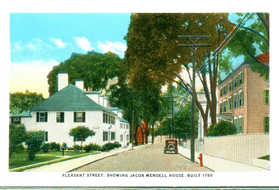 Pleasant Street showing Jacob Wendell Home, Portsmouth NH 1930