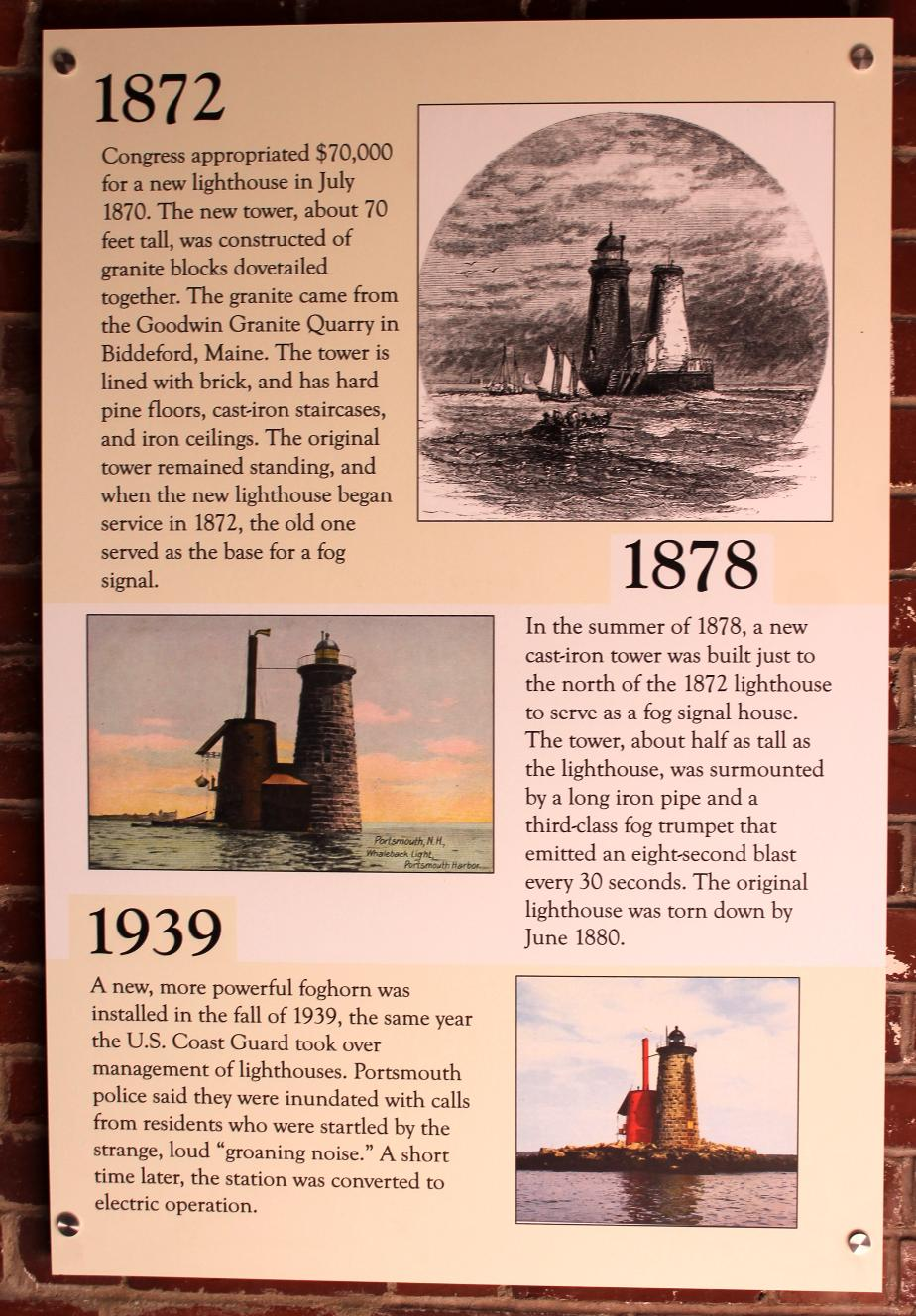 Whaleback Lighthouse History- Portsmouth NH