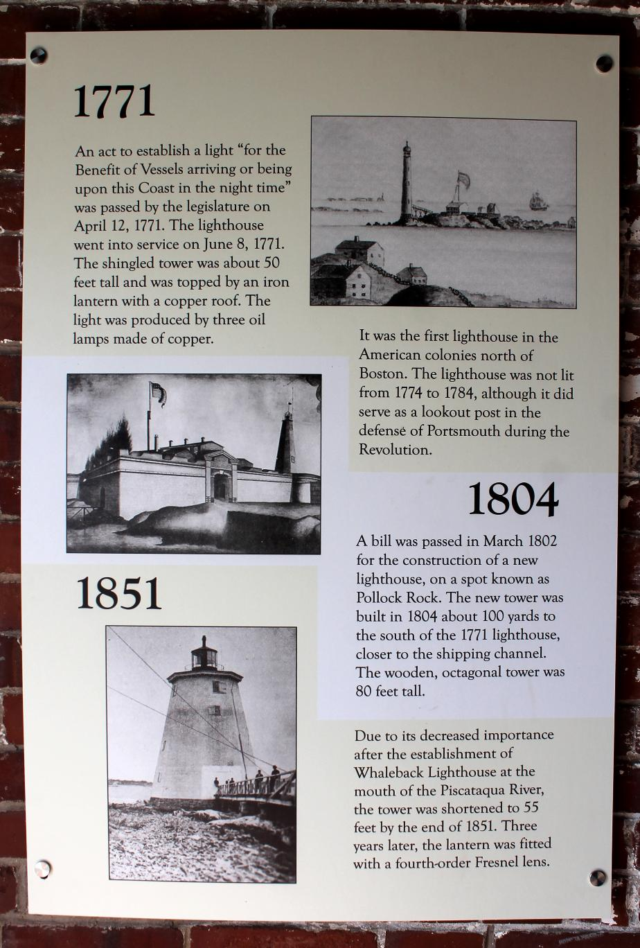 Fort Point Light History- New Castle NH