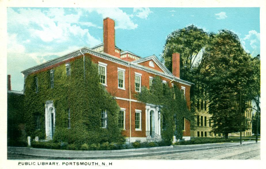 Portsmouth NH Public Library Postcard