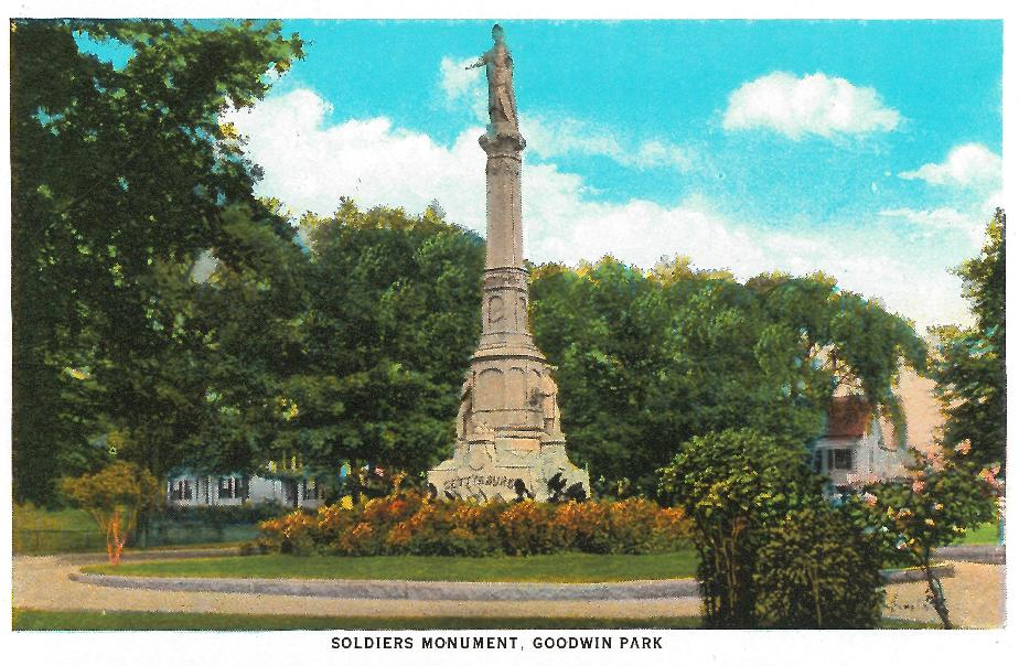 Soldiers Monument - Goodwin Park Portsmouth NH 1930