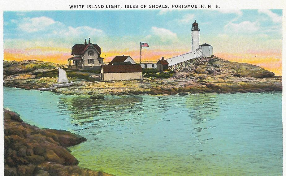 White Island Lighthouse, Isles of Shoals NH 1939