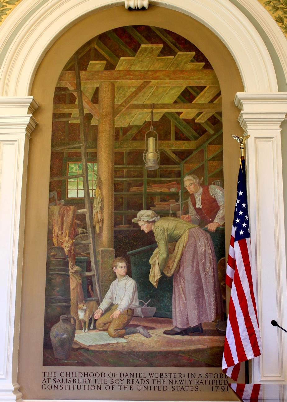 Childhood of Daniel Webster - NH State House Painting