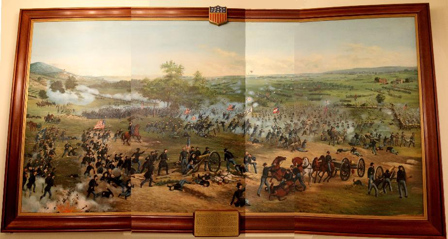 New Hampshire State House Battle of Gettysburg Mural