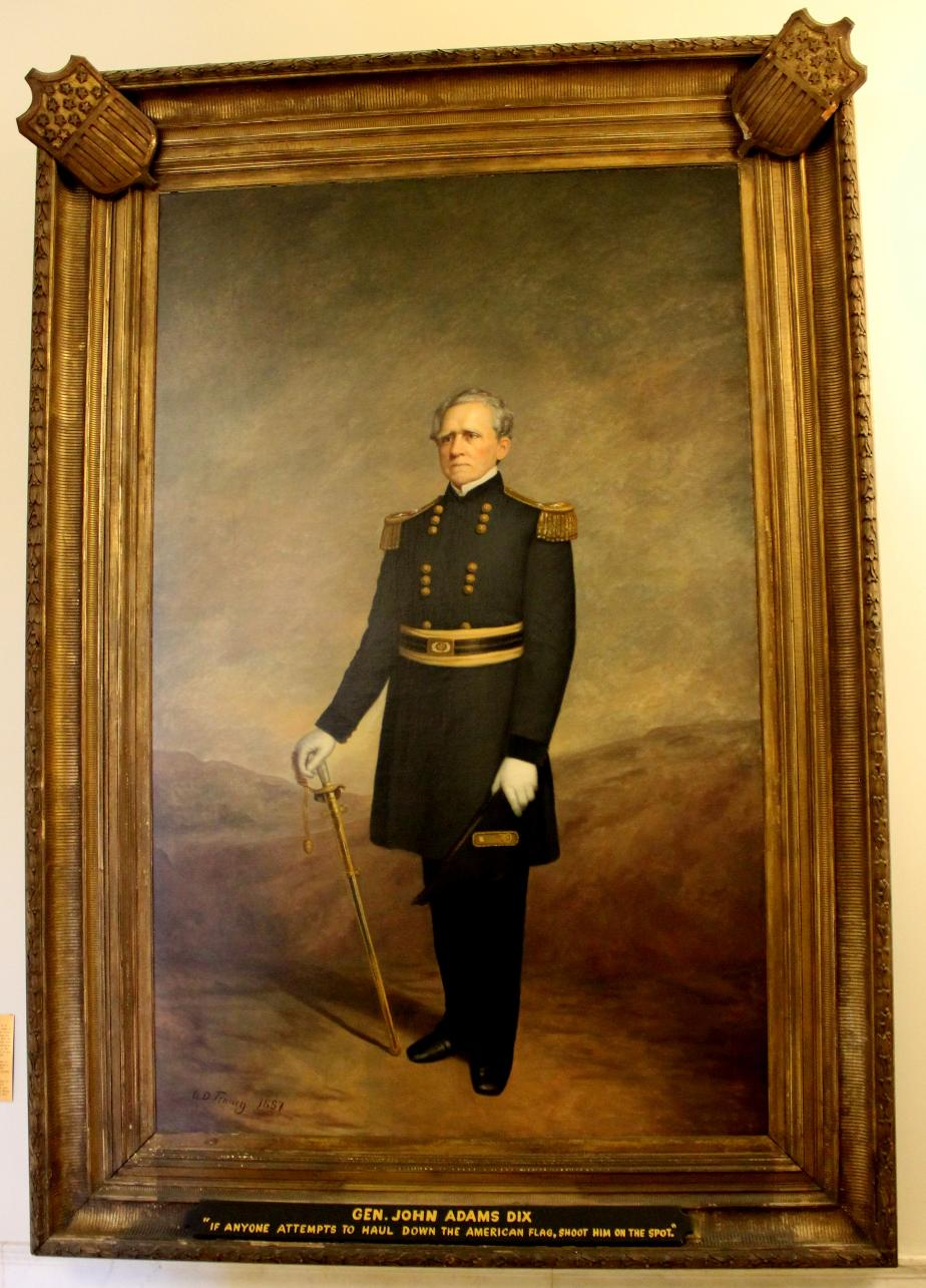 General John Adams Dix NH State House Portrait