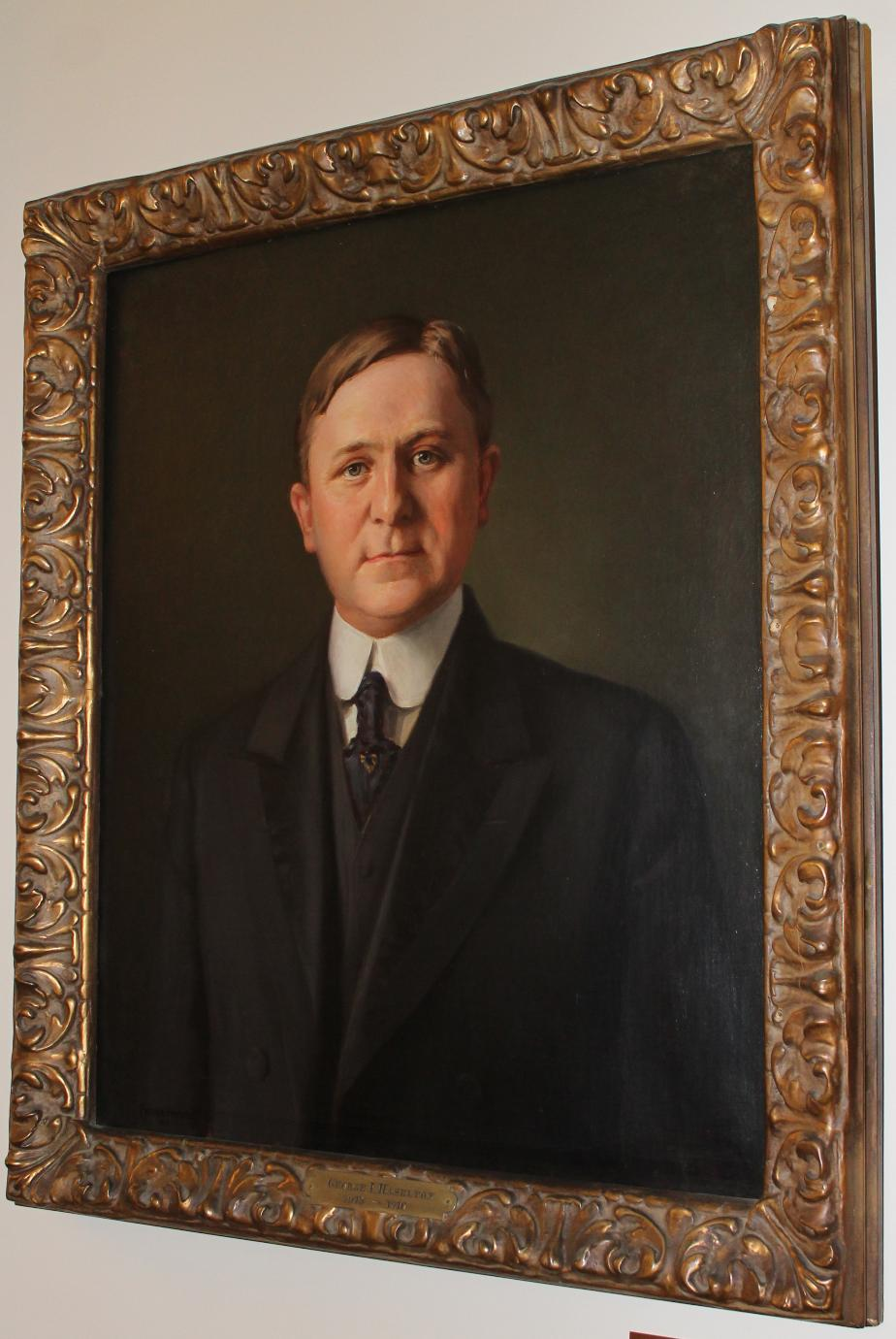 George Haselton NH Senate President 1916 - NH State House Portrait