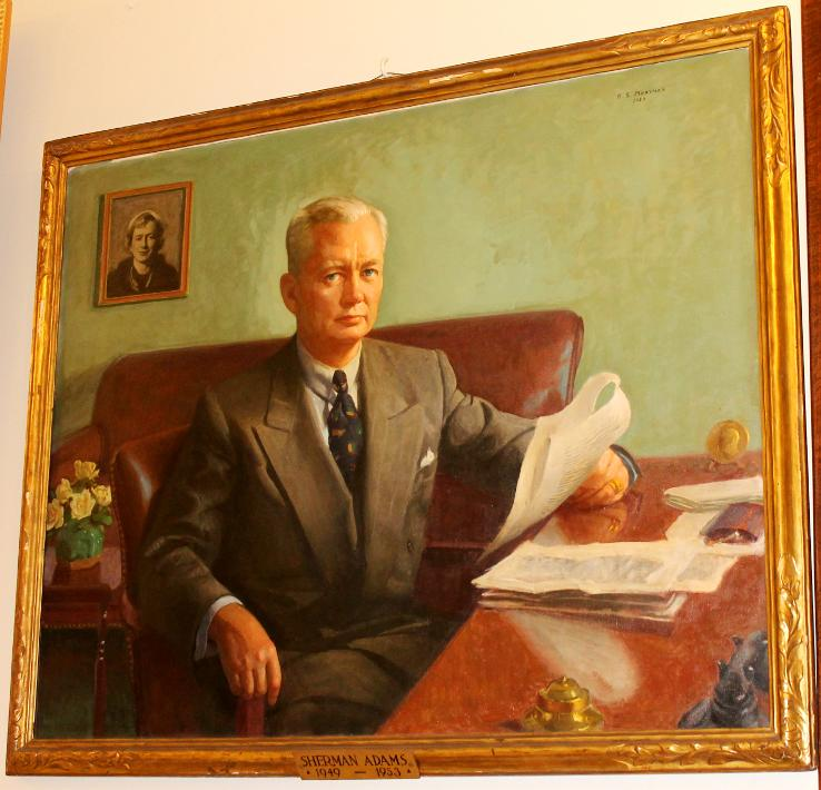 Sherman Adams, New Hampshire State House Portrait