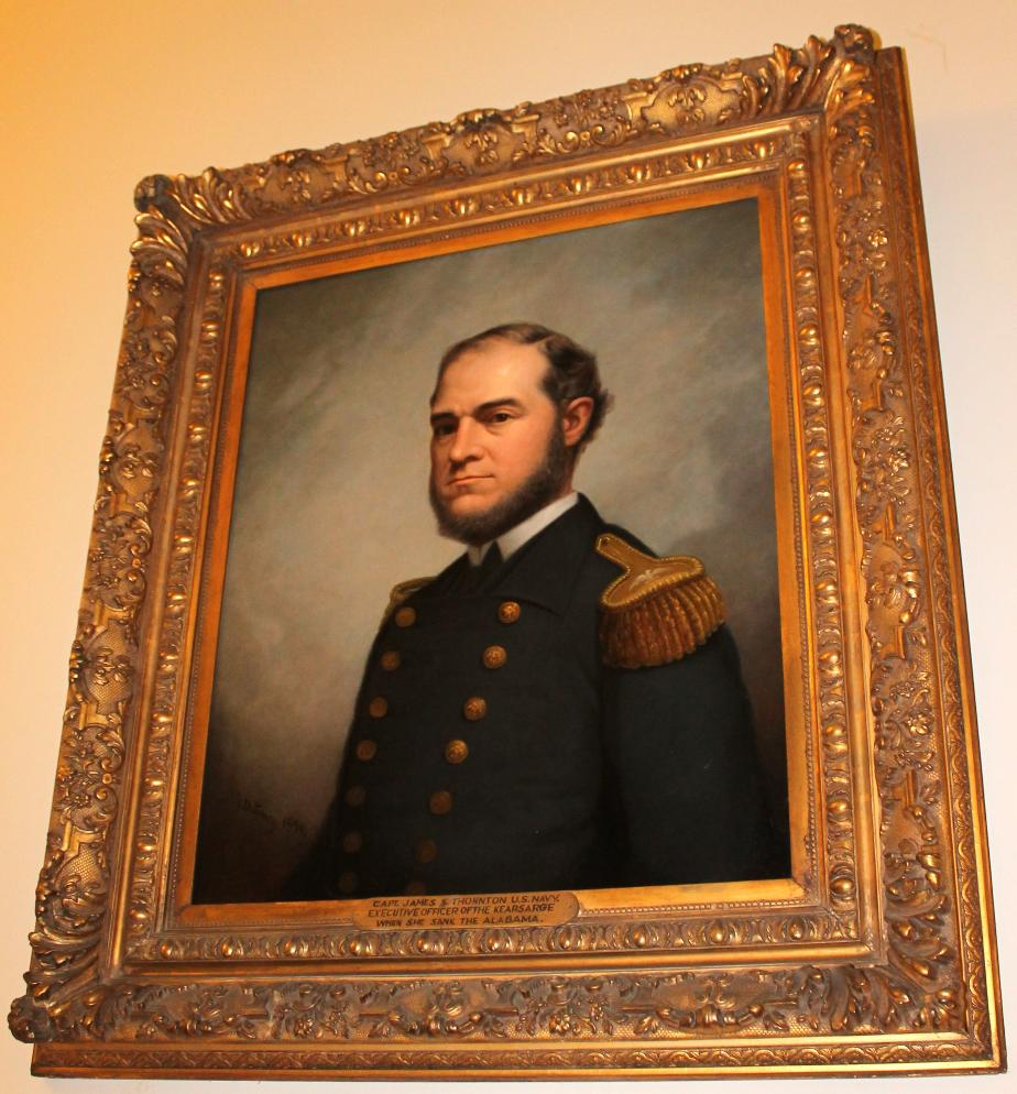 Capt James S Thornton USN Civil War NH State House Portrait