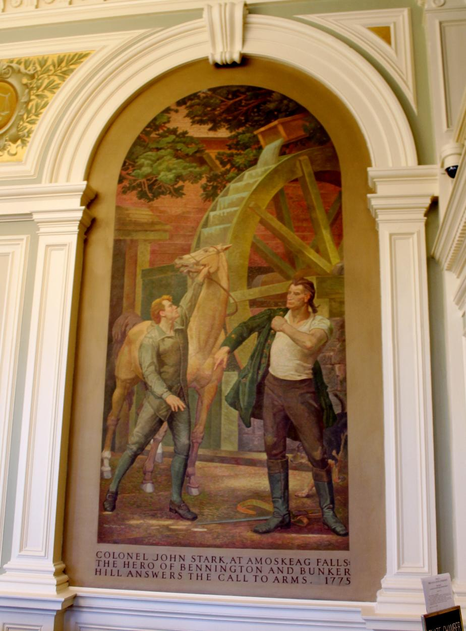 John Stark at Amoskeag Falls NH State House Painting