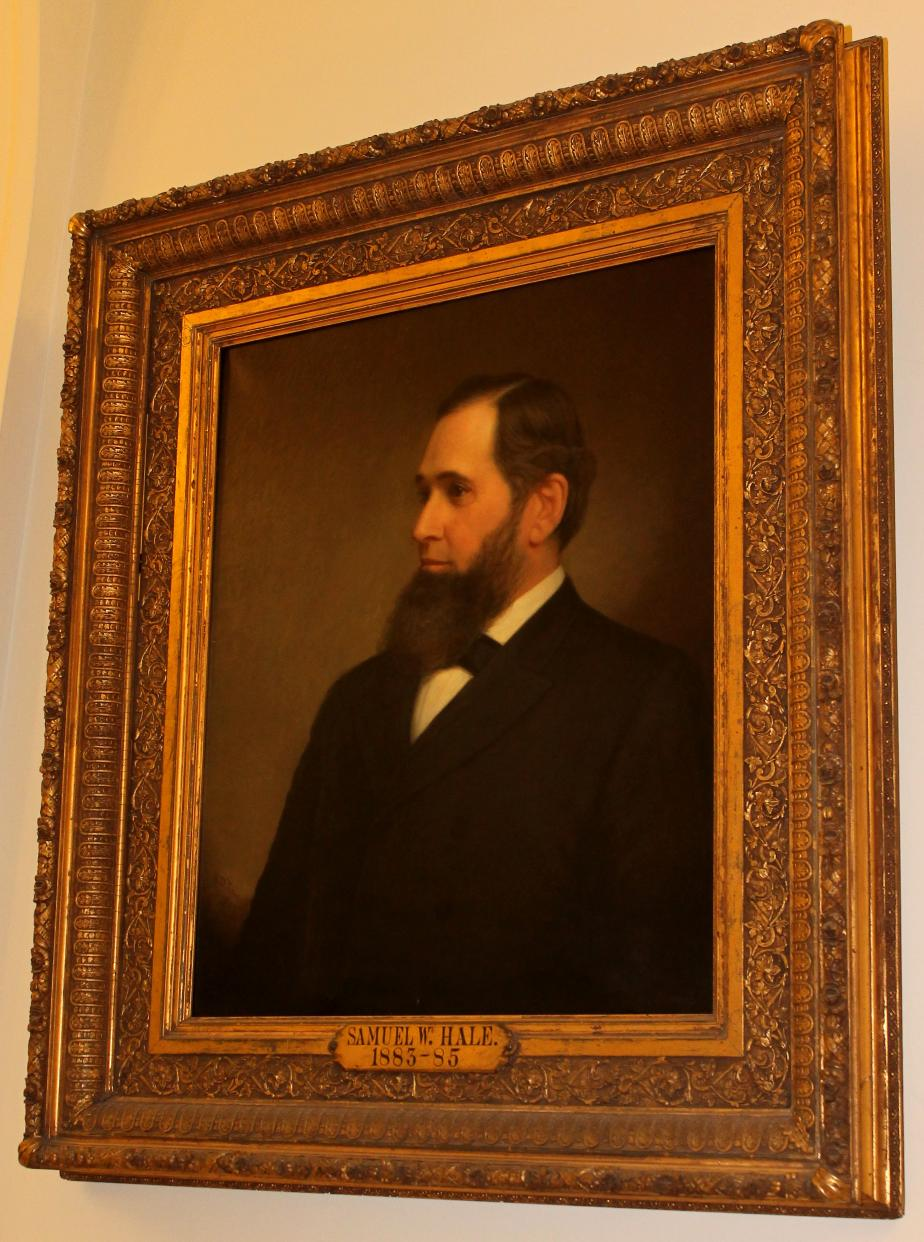 NH Governor Samuel W Hale, NH State House Portrait