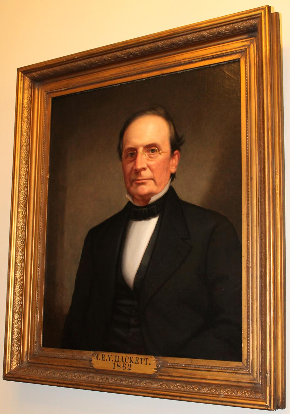 William HY Hackett - NH State Senate President 1862 - NH State House Portrait
