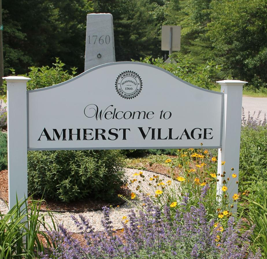 Amherst New Hampshire Town Welcome Sign