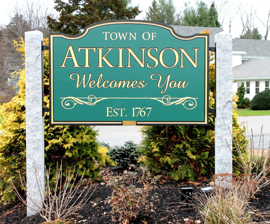Atkinson New Hampshire Town Welcome Sign