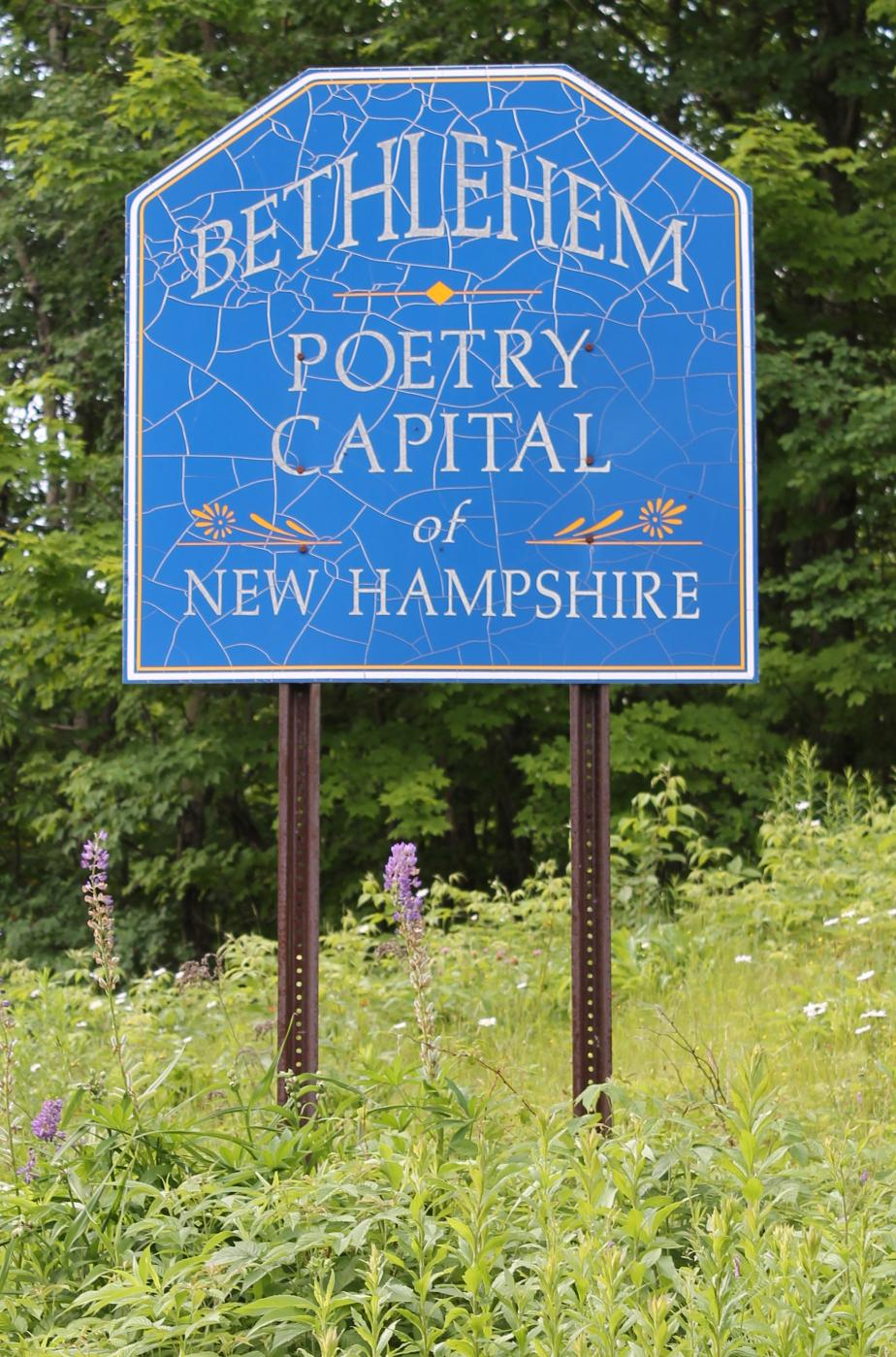 Bethlehem New Hampshire Town Welcome Sign