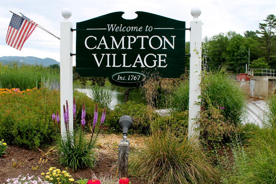Campton Village NH Town Welcome Sign
