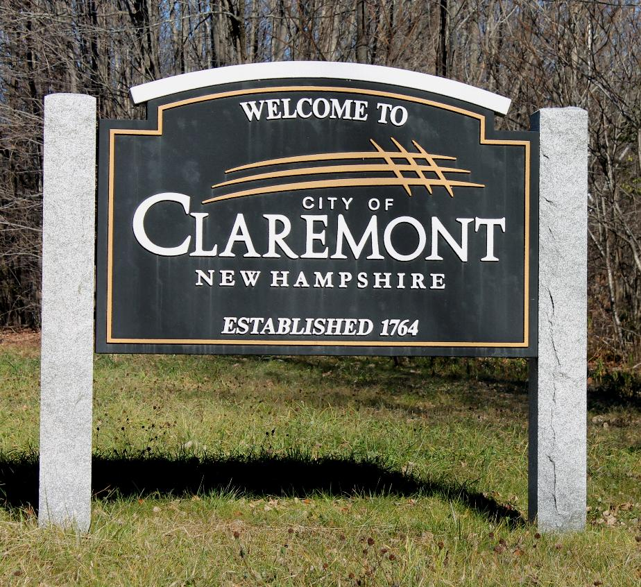 Claremont New Hampshire Welcome Sign