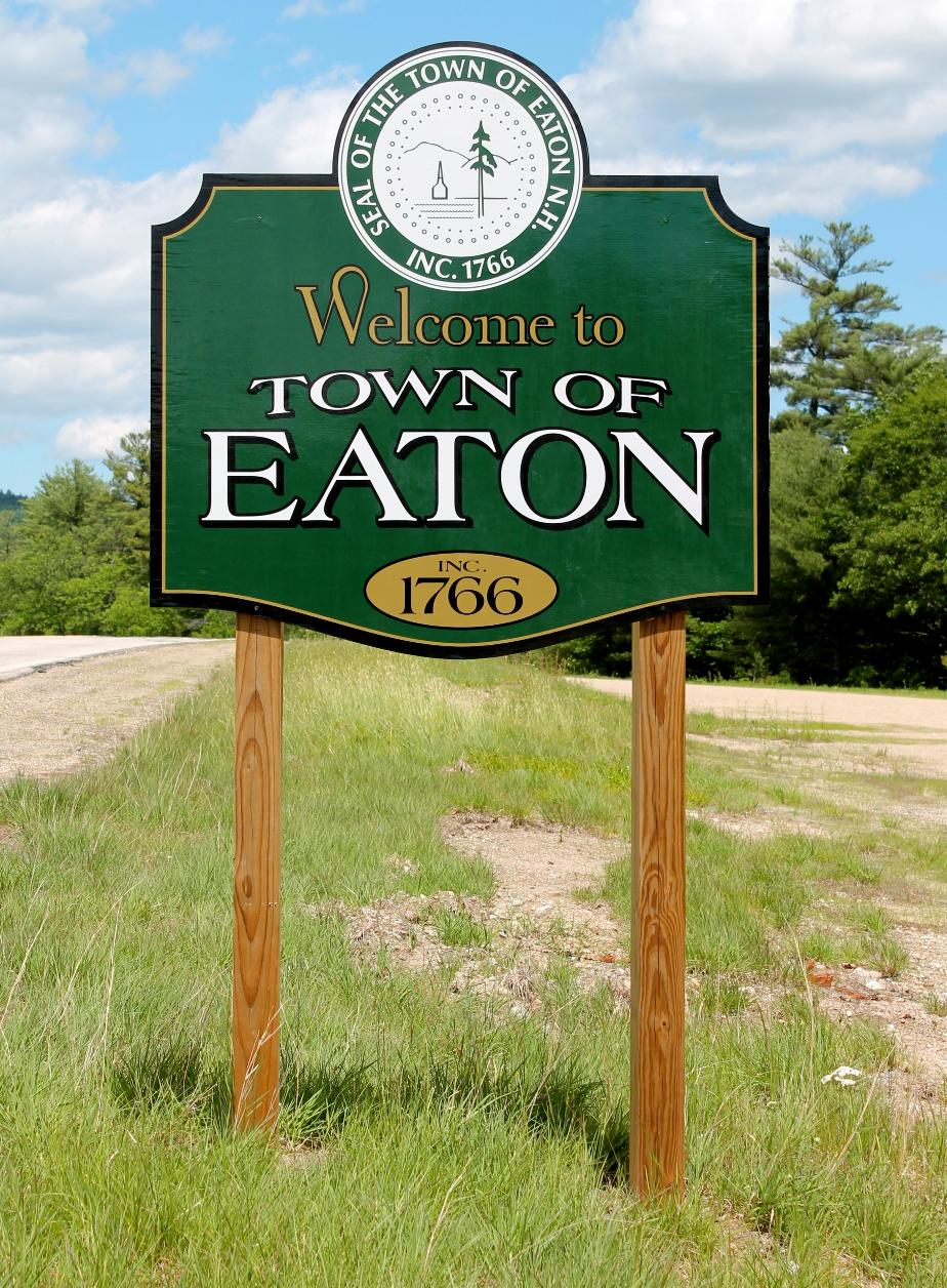 Eaton New Hampshire Welcome Sign
