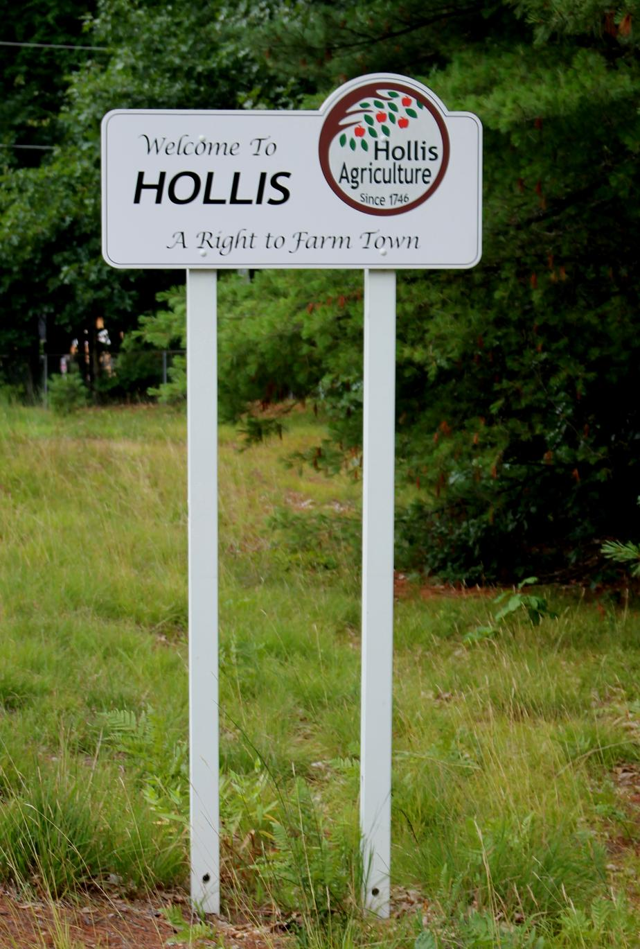Hollis New Hampshire Town Welcome Sign