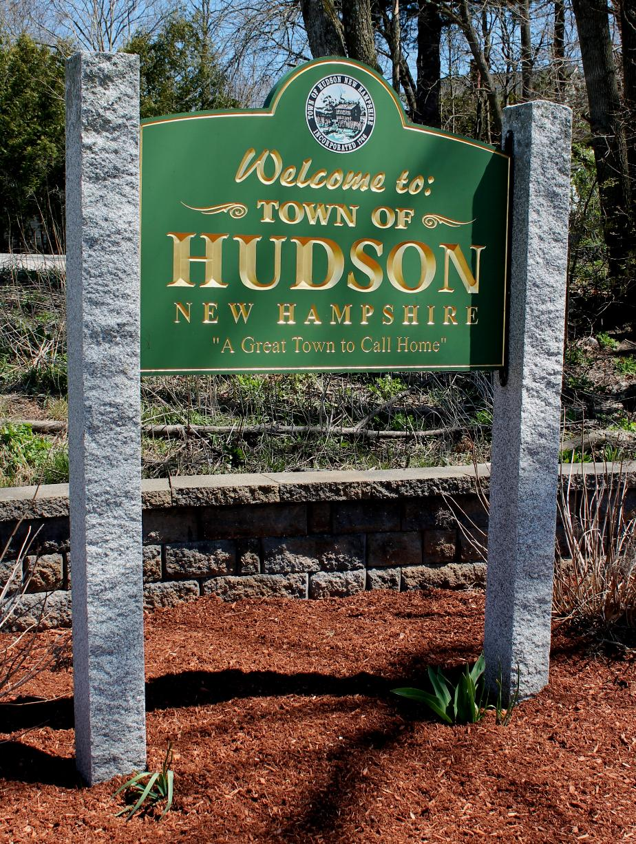 Hudson, New Hampshire Welcome Sign