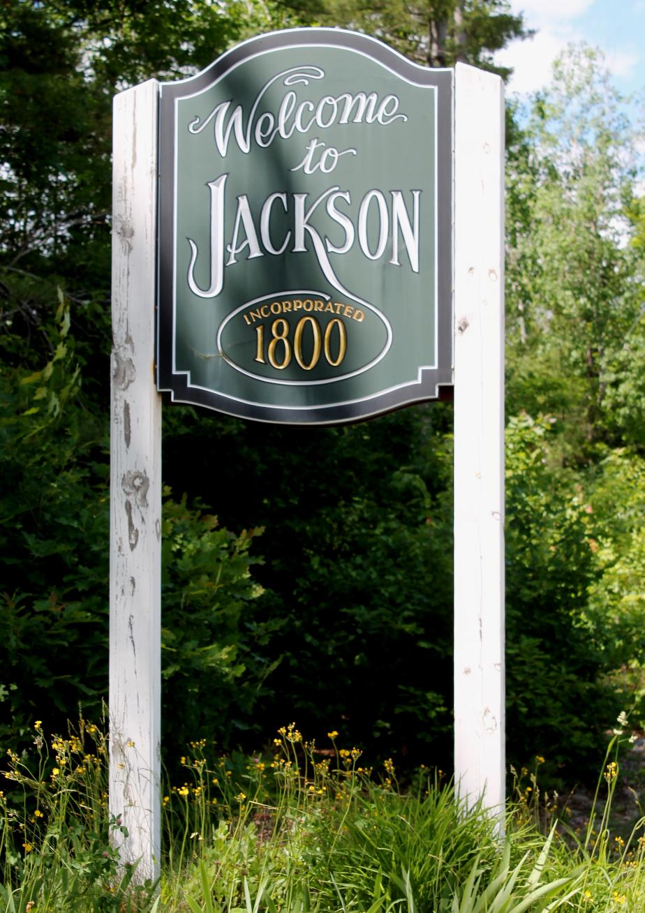 Jackson New Hampshire Town Welcome Sign