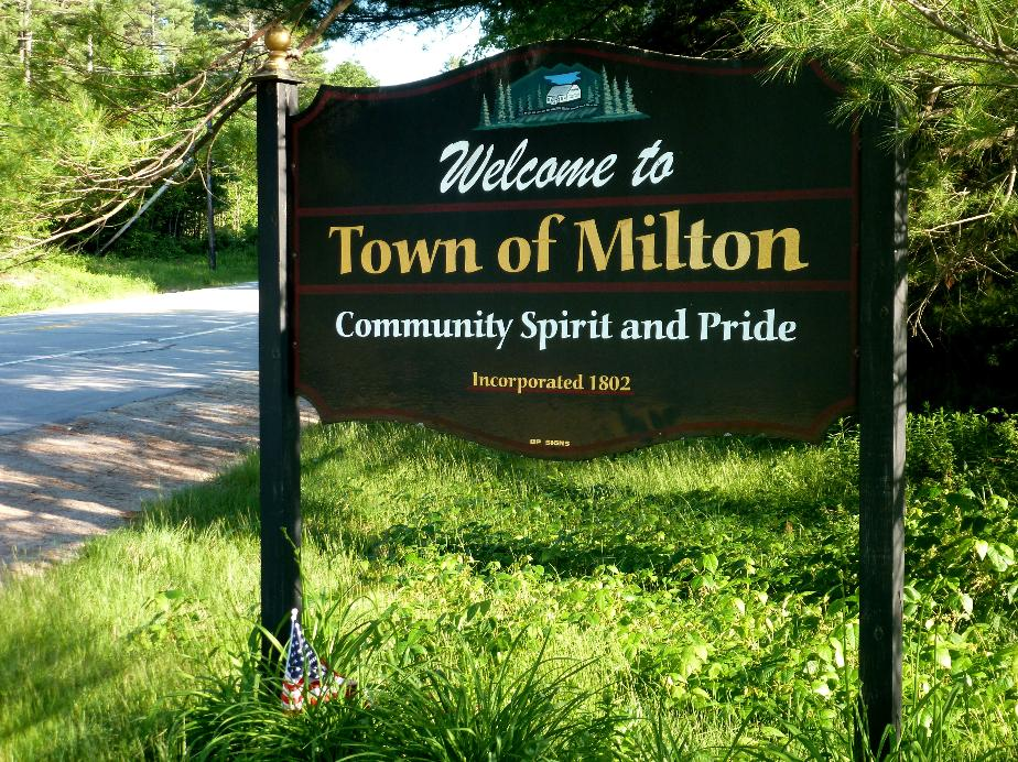 Milton New Hampshire Town Sign