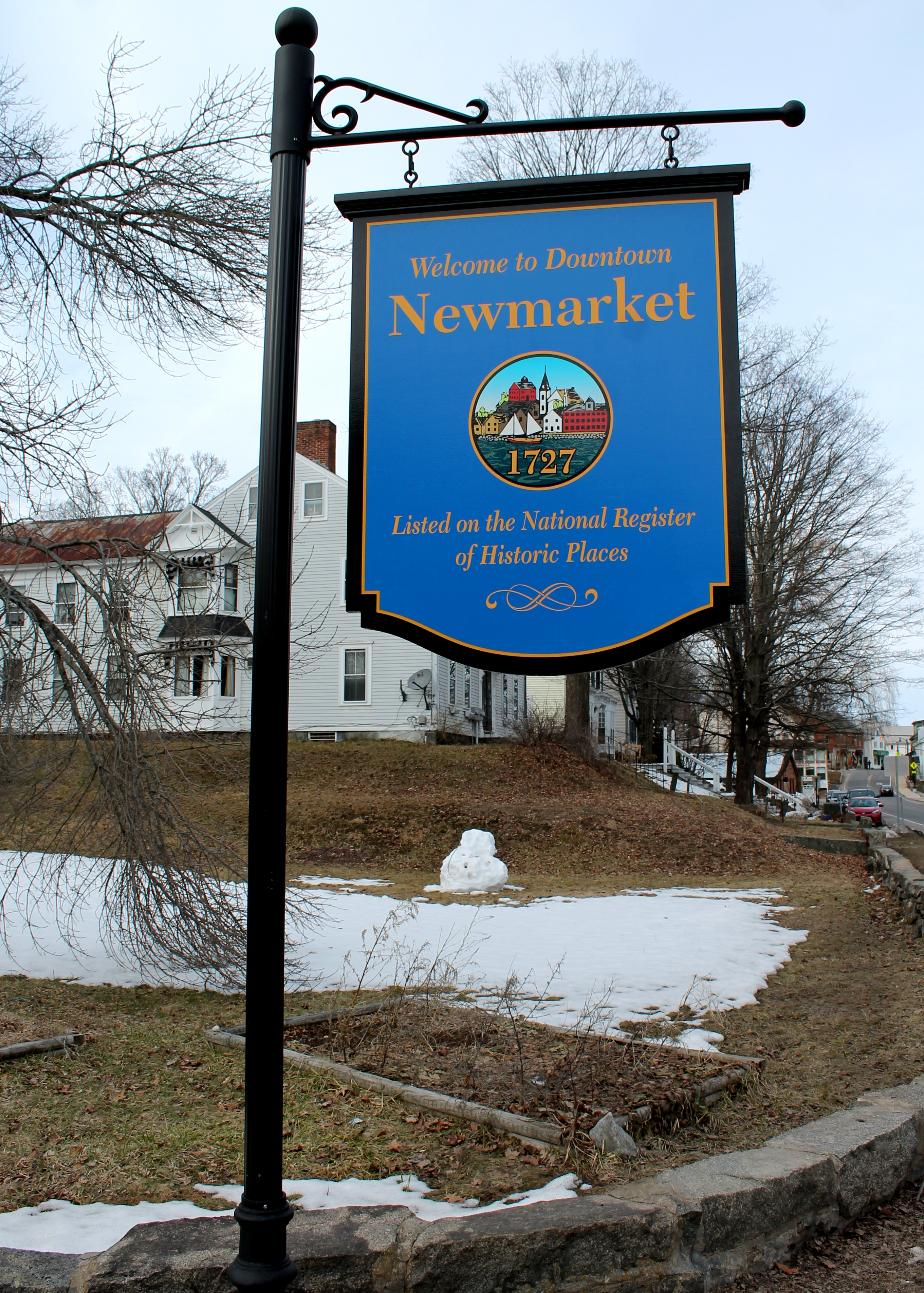 Newmarket New Hampshire Town Welcome Sign