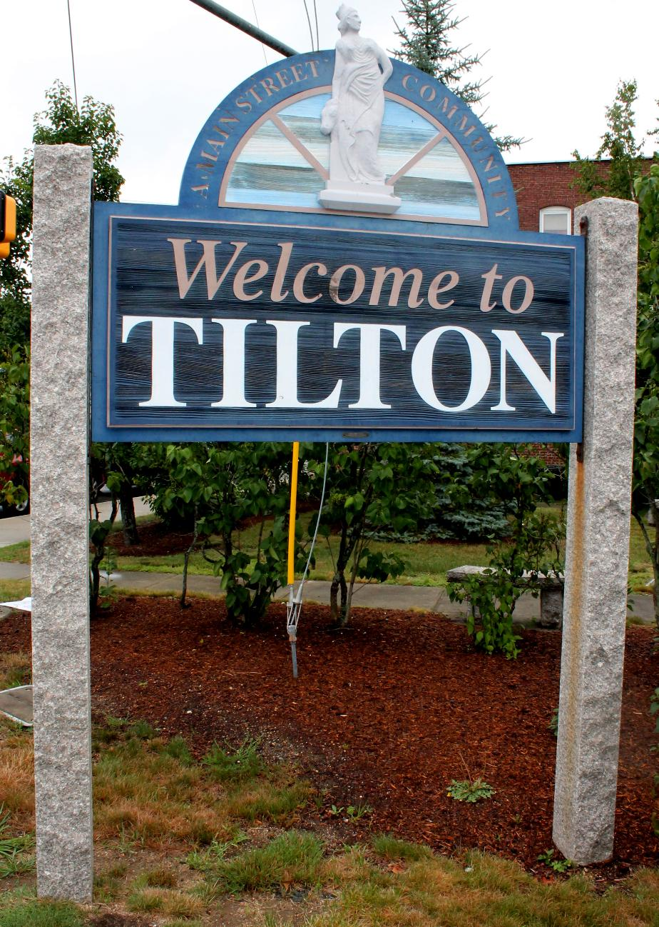 Tilton New Hampshire Town Welcome Sign