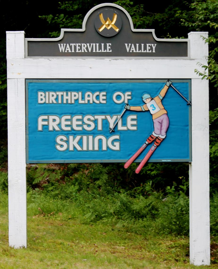 Waterville Valley Town Welcome Sign