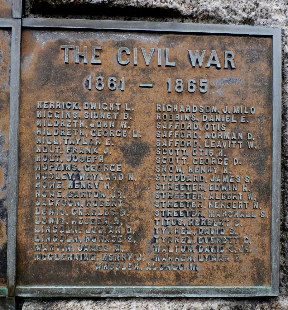 Chesterfield NH Civil War Honor Roll