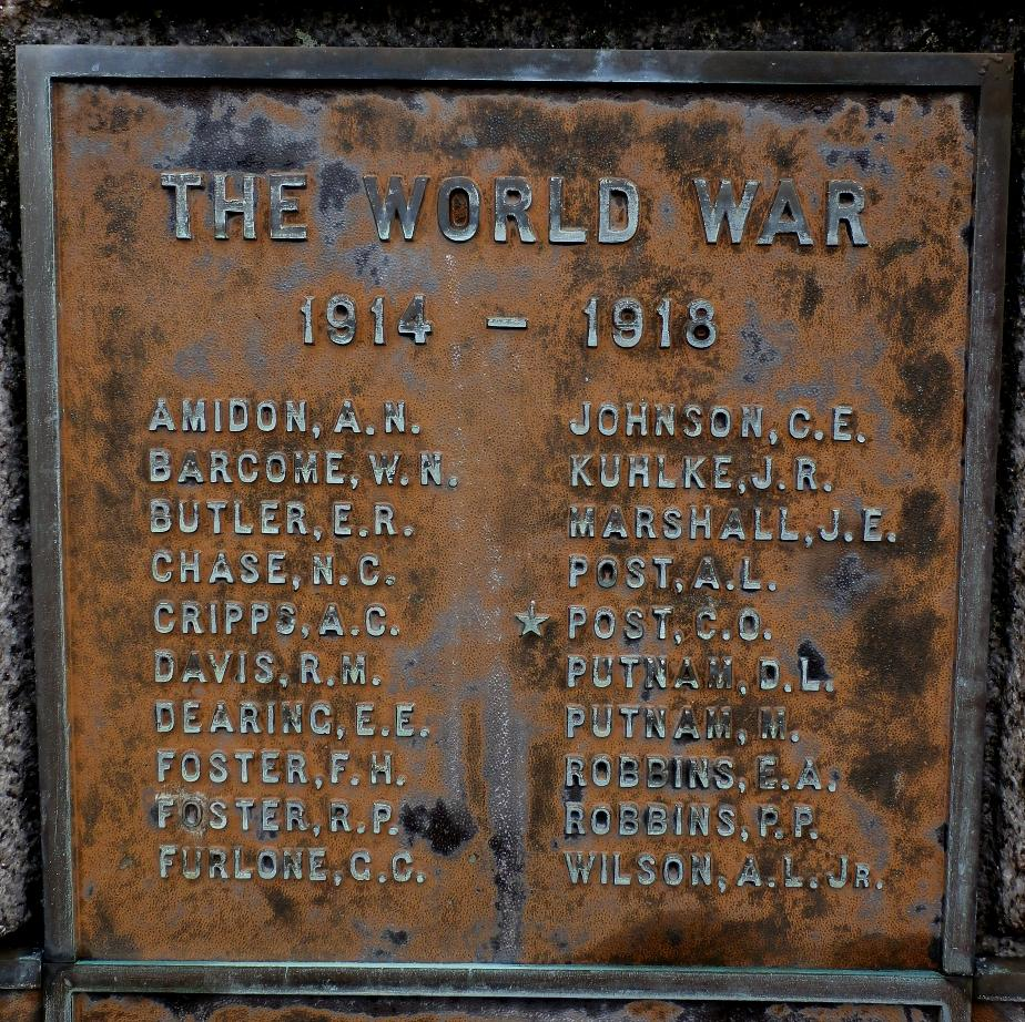 Chesterfield NH World War I Honor Roll