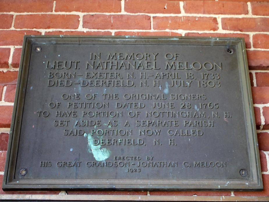 Nathanael Maloon Memorial Plaque - Deerfield NH