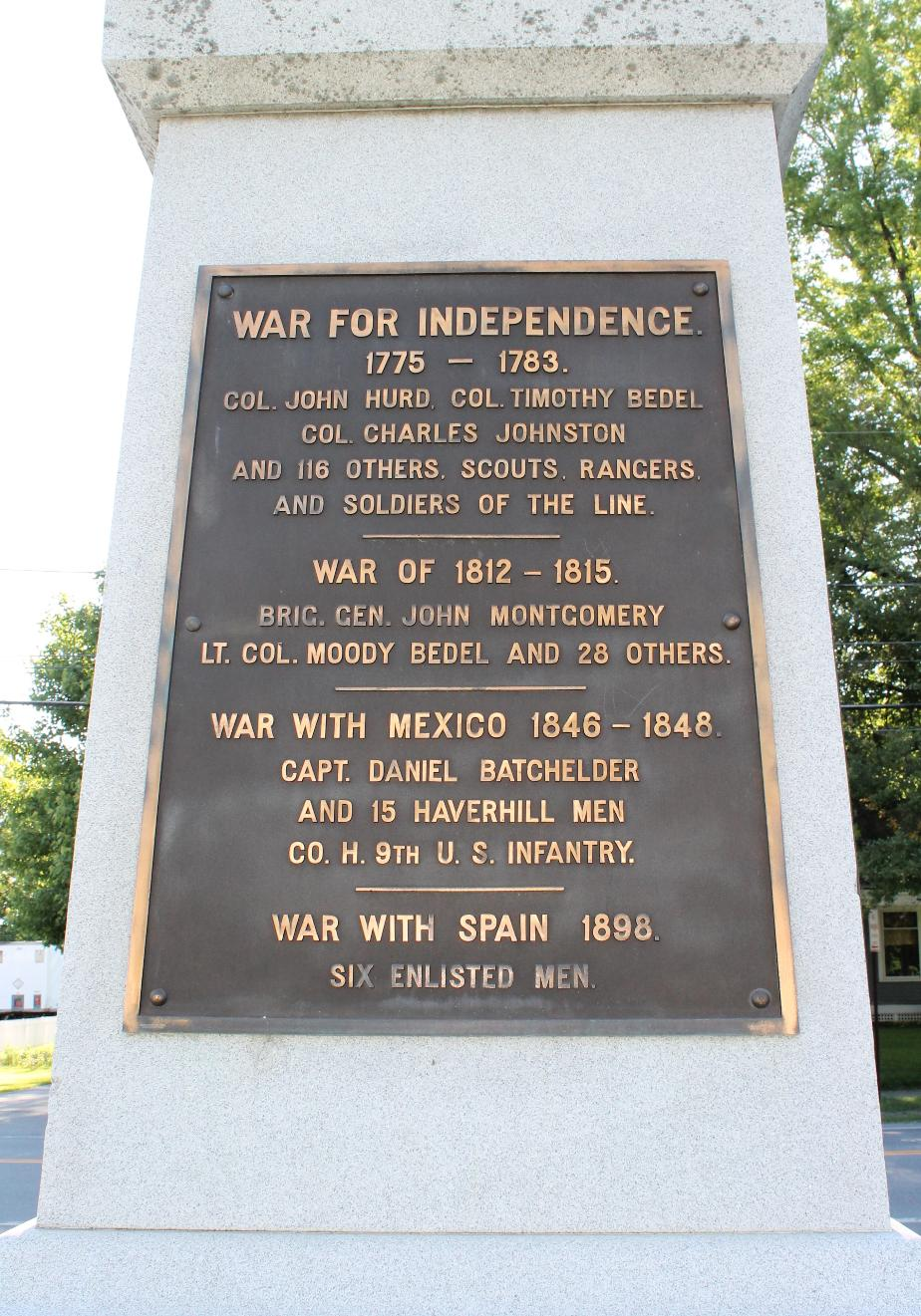 Haverhill NH Revolutionary War - War of 1812 & War with Mexico Honor Roll