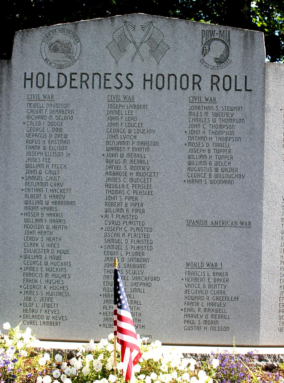 Holderness New Hampshire Veterans Honor Roll