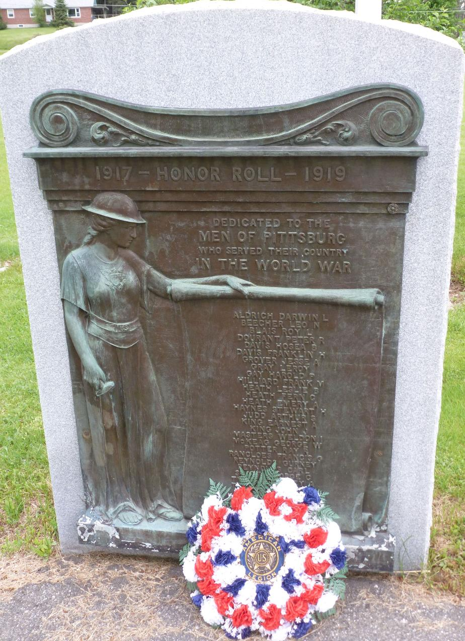 Pittsburg, New Hampshire WWI Honor Roll