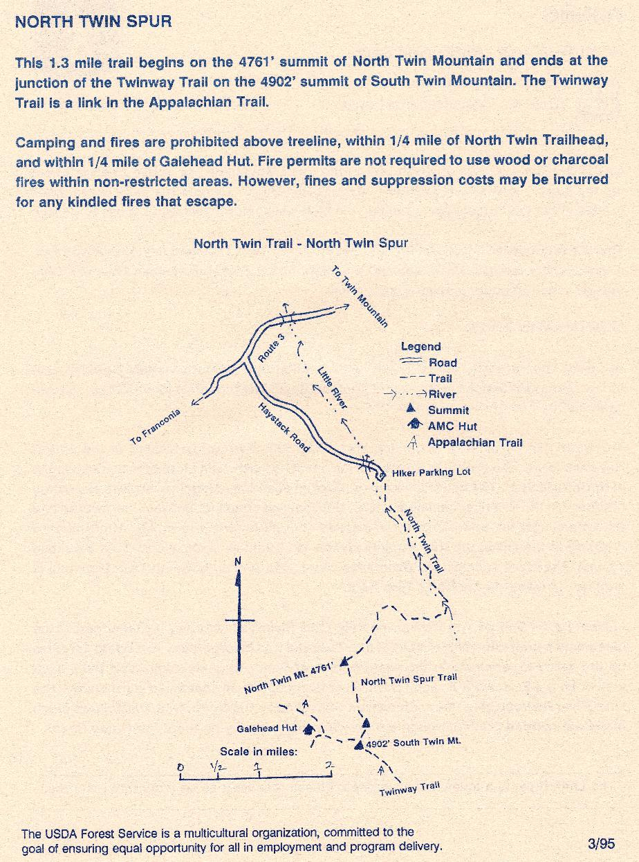 North Twin Mountain Trail Guide- White Mountains NH