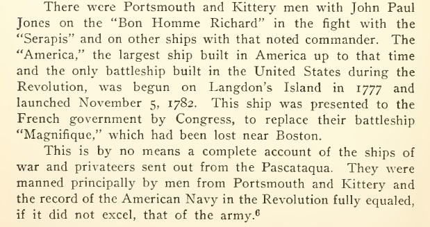 HMS America Launched in Portsmouth NH - November 5, 1782